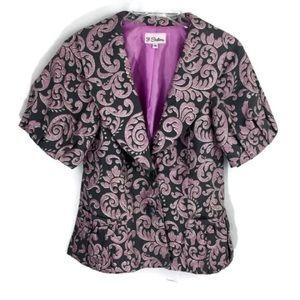 3 Sisters Peplum Jacquard Dressy Jacket